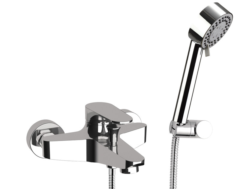 Wall-mounted bathtub mixer with hand shower CLASS LINE | Set vasca - Remer Rubinetterie