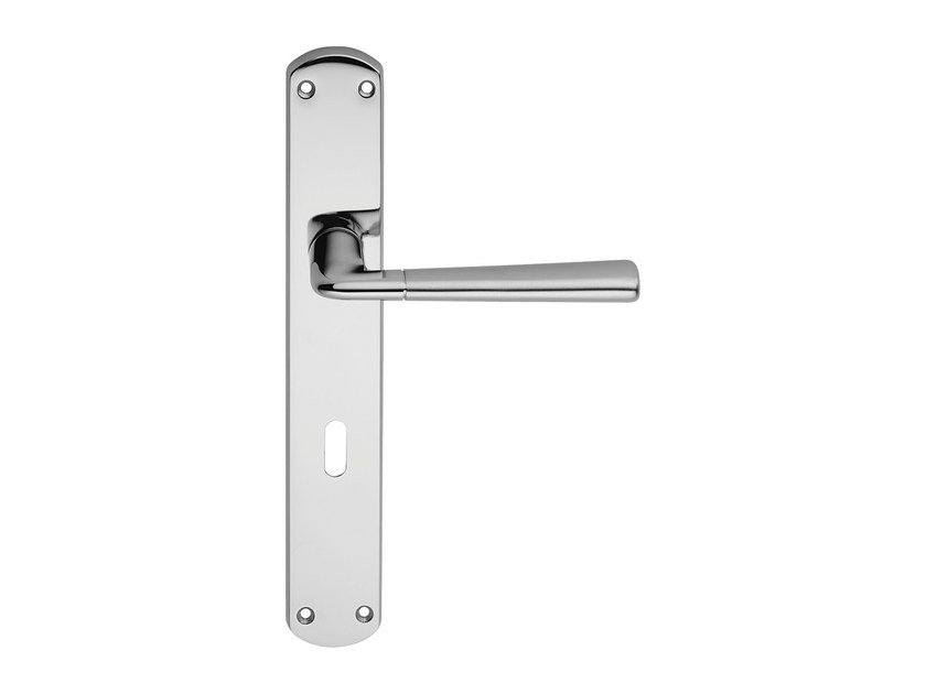 Classic style brass door handle on back plate TESS | Door handle on back plate - LINEA CALI'