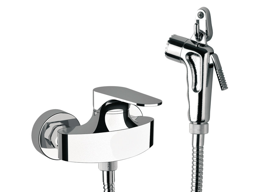 Chrome-plated single handle shower mixer with hand shower CLASS LINE | Shower mixer - Remer Rubinetterie