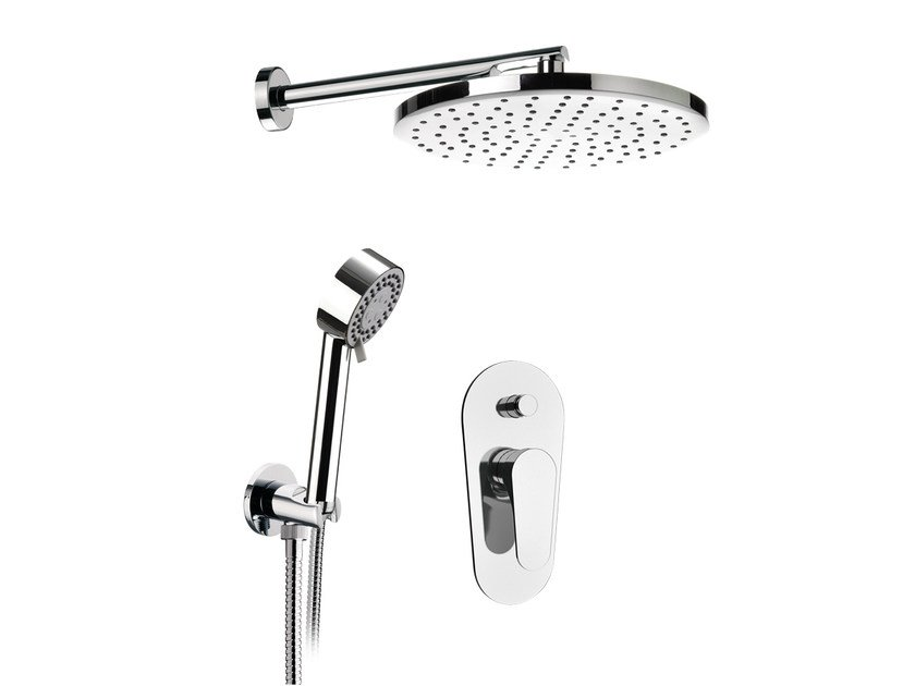 Shower mixer with hand shower with overhead shower CLASS LINE | Set Doccia by Remer Rubinetterie