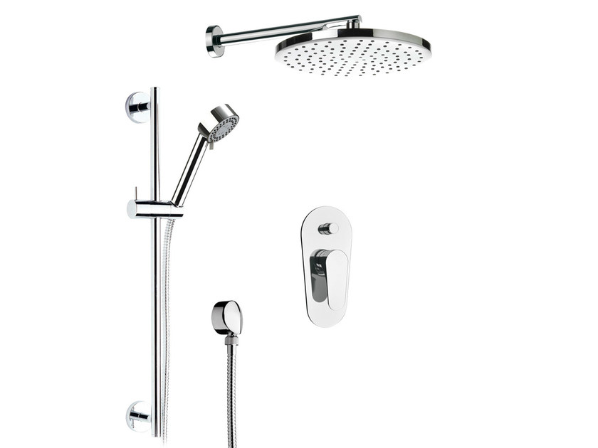 Shower wallbar with hand shower with mixer tap with overhead shower CLASS LINE | Set doccia - Remer Rubinetterie