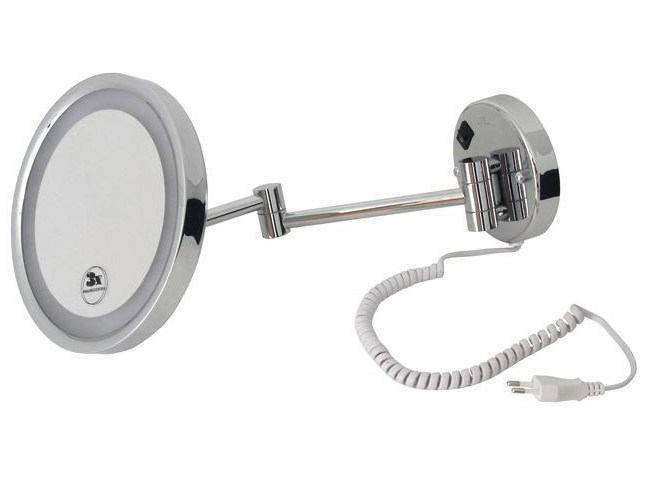 Wall-mounted shaving mirror with integrated lighting HOTELS | Shaving mirror with integrated lighting - NOKEN DESIGN