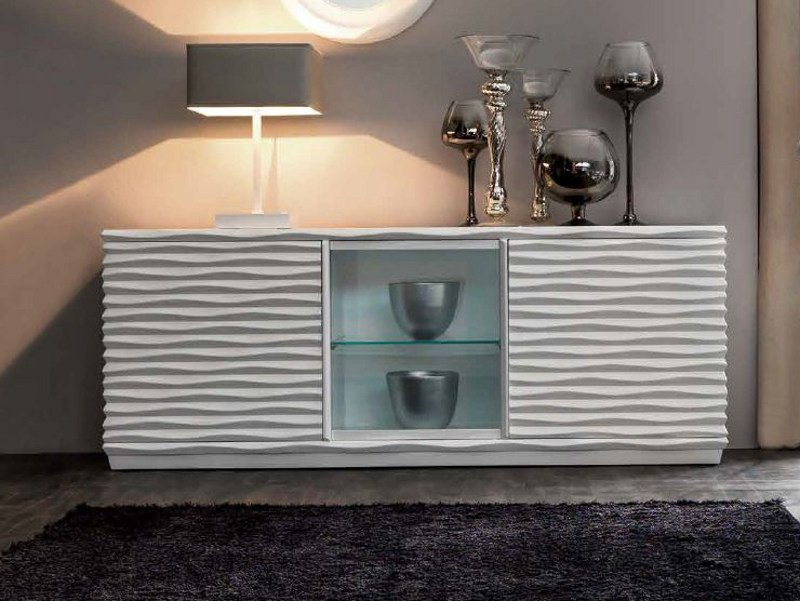 Lacquered sideboard with doors EBON | Lacquered sideboard - CorteZari