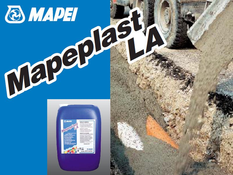 Additive for cement and concrete MAPEPLAST LA by MAPEI