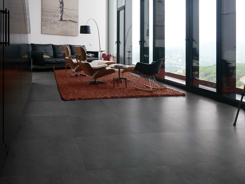 Porcelain stoneware flooring with concrete effect TALM | Flooring - NOVOCERAM