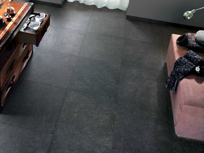 Porcelain stoneware flooring with stone effect ICÔNE by NOVOCERAM