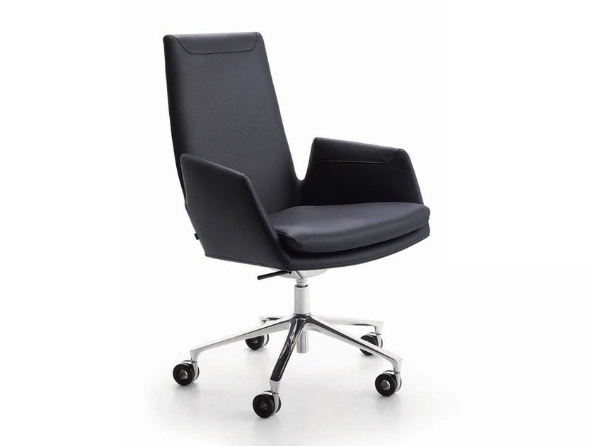 Task chair with 5-Spoke base with casters CORDIA | Task chair with casters - COR Sitzmöbel Helmut Lübke
