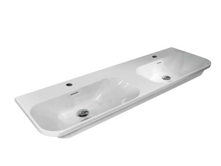 Inset double washbasin with overflow BELA | Double washbasin - NOKEN DESIGN