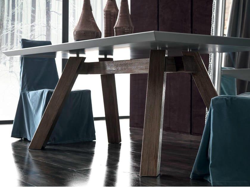 Rectangular wooden table SOHO | Wooden table - CorteZari