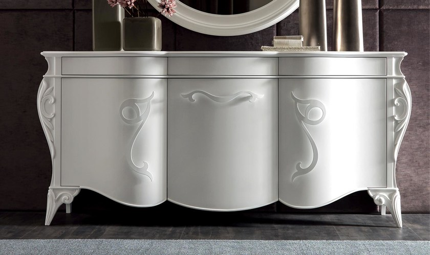 Lacquered sideboard with doors PIGALLE | Sideboard - CorteZari