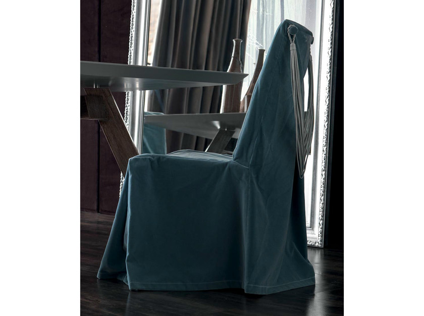 Upholstered fabric chair with removable cover KARIS | Fabric chair - CorteZari