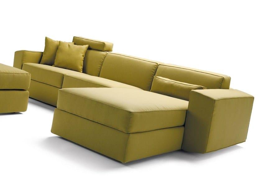 Divano letto con chaise longue melvin divano con chaise for Divano chaise longue
