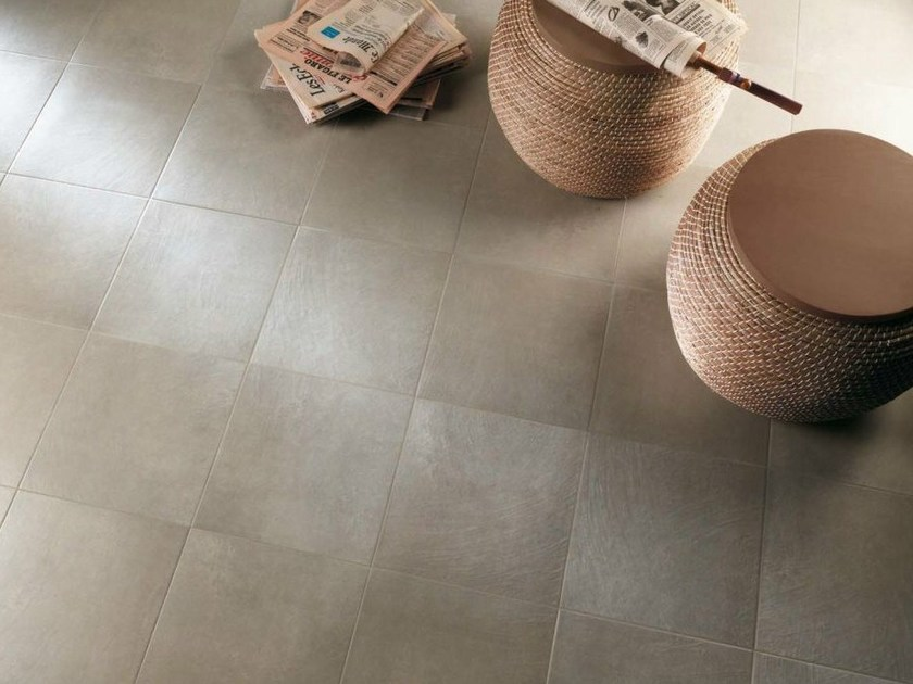 Glazed stoneware flooring with concrete effect KARISMA - NOVOCERAM