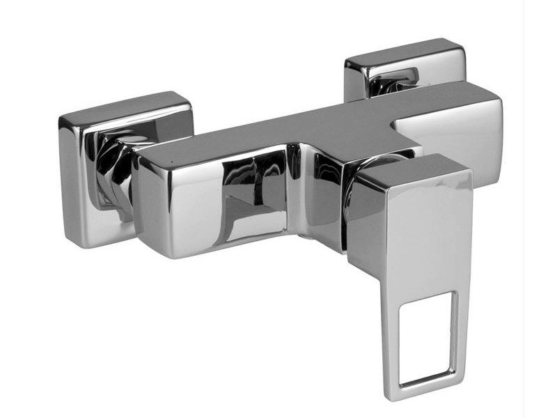 2 hole chrome-plated shower mixer ACRO-N OPEN | 2 hole shower mixer - NOKEN DESIGN