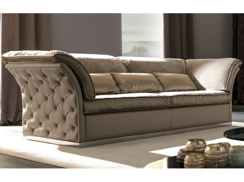 Tufted 3 seater fabric sofa TIAGO | Sofa - CorteZari