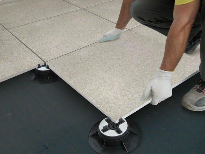 Modular system for raised flooring NOVOCERAM OUTDOOR PLUS by NOVOCERAM
