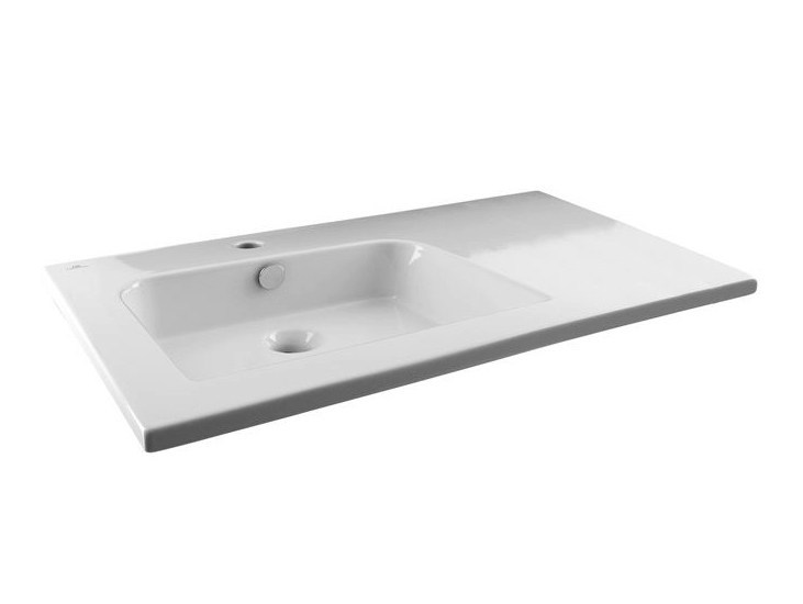 Rectangular washbasin with overflow NK LOGIC | Washbasin with overflow - NOKEN DESIGN