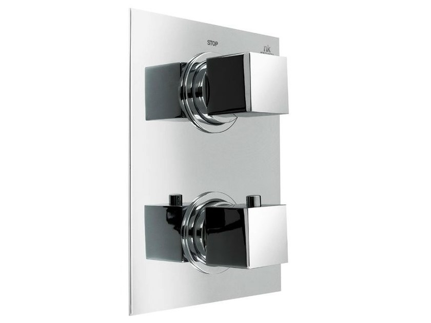 Chrome-plated shower tap with diverter with plate NK LOGIC | Shower tap with plate - NOKEN DESIGN