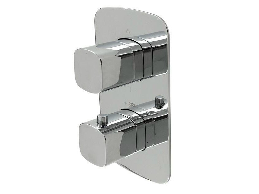 Thermostatic shower tap with plate NK CONCEPT | Thermostatic shower tap - NOKEN DESIGN