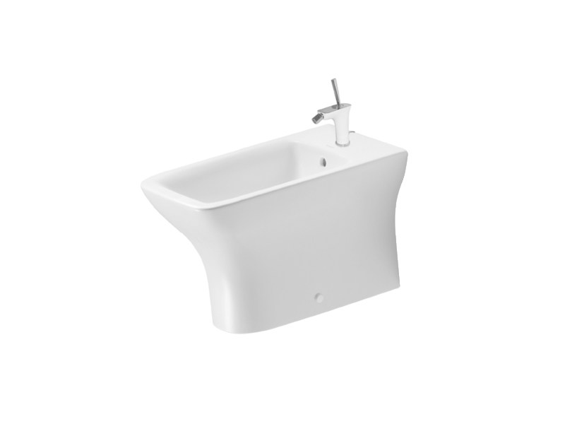 Ceramic bidet with overflow PURAVIDA | Bidet with overflow - DURAVIT