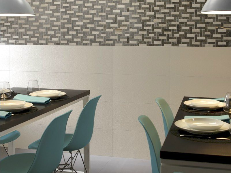 Glazed stoneware wall tiles OFF-WHITE - Revigrés