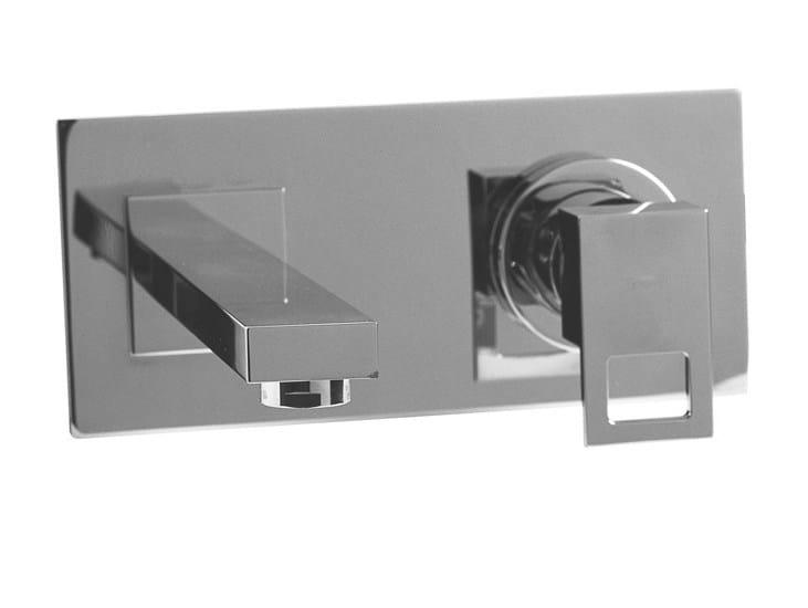 Wall-mounted chrome-plated washbasin mixer with aerator IRTA | Wall-mounted washbasin mixer - NOKEN DESIGN