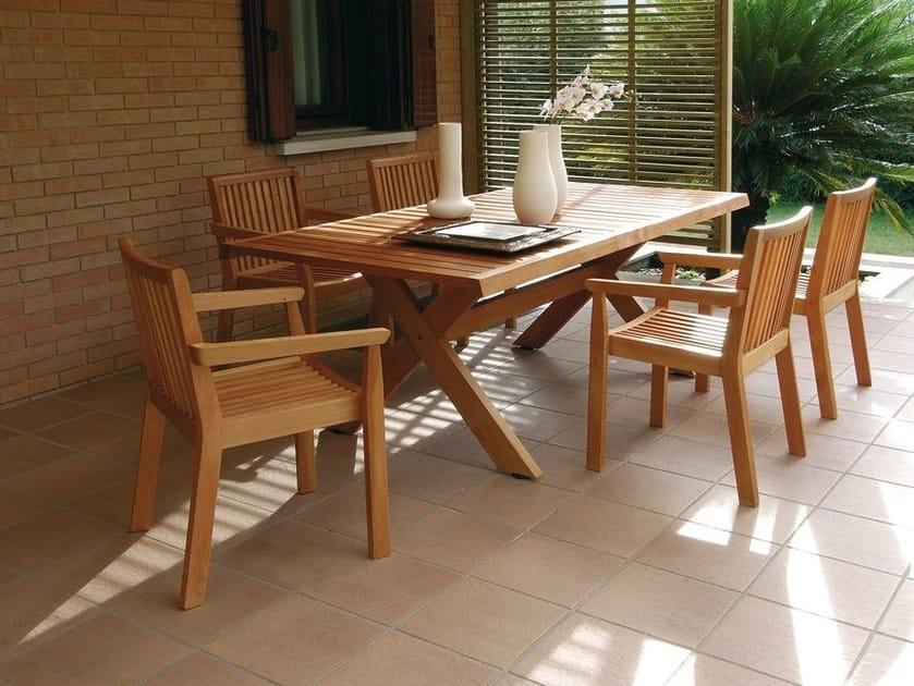 Tavolo allungabile da giardino in legno AIRONE  Tavolo allungabile - Legnolandia