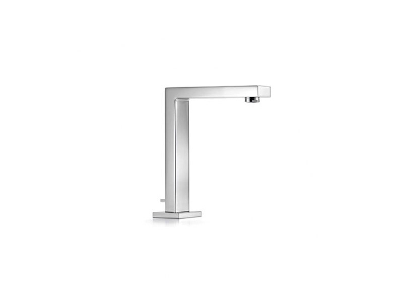 Chrome-plated counter top sink spout with pop up waste