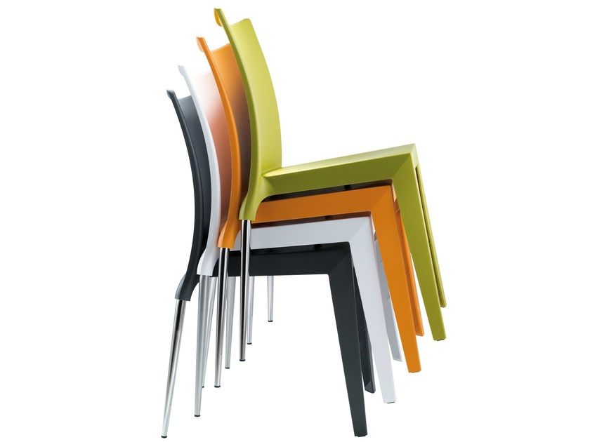 Stackable polypropylene chair JO | Stackable chair - AREA DECLIC