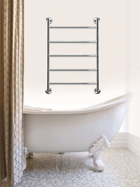 Electric hot-water wall-mounted stainless steel towel warmer REMIND by FOURSTEEL