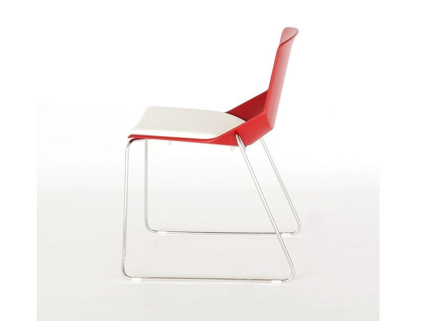 Polycarbonate restaurant chair FORMULA | Fabric chair - AREA DECLIC