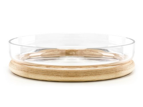 Wood and glass bowl HOOP - TON