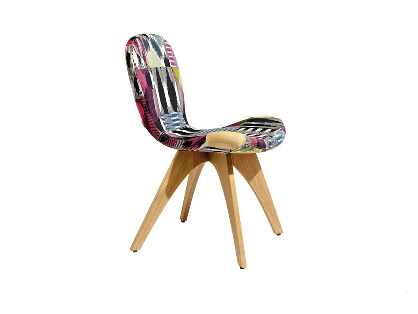 Upholstered fabric chair PATCH ONE | Fabric chair - MissoniHome