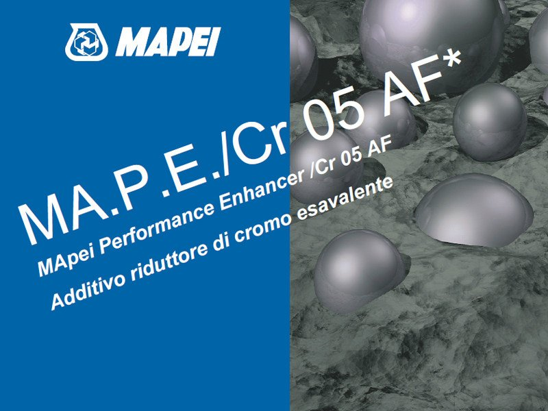 Additive for cement and concrete MA.P.E./Cr by MAPEI