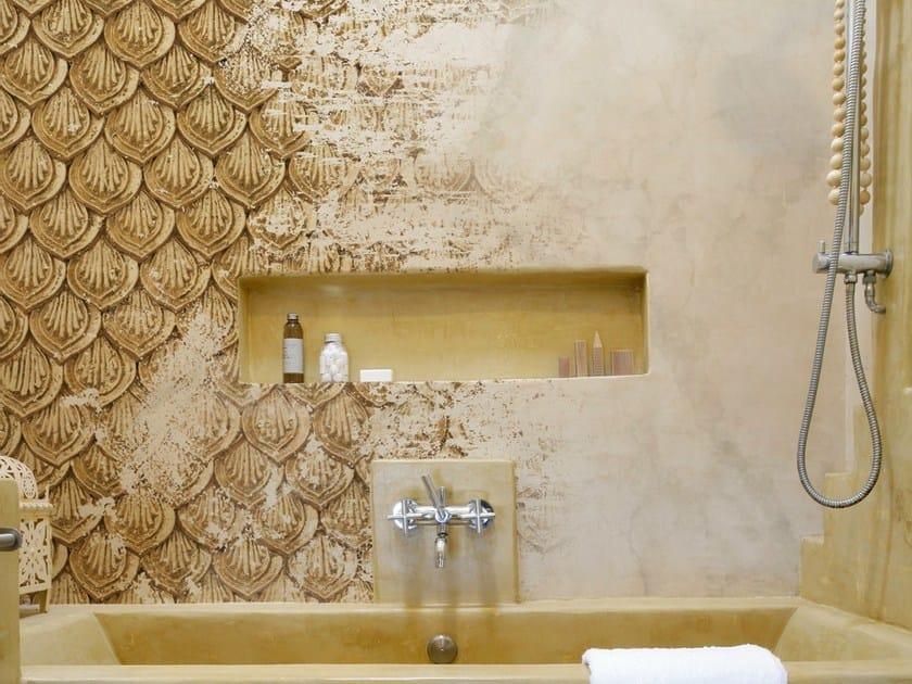 Carta da parati a motivi per bagno zar wall dec - Carta da parati lavabile per bagno ...