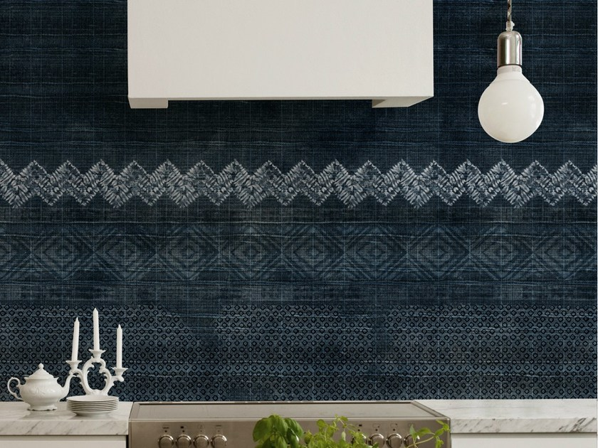 Motif bathroom wallpaper SHIBORI by Wall&decò