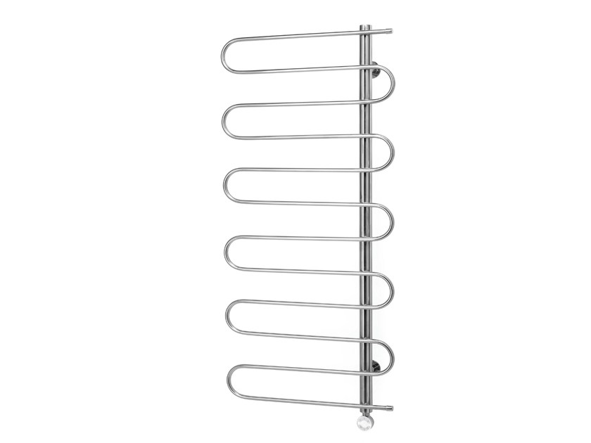 Hot-water electric towel warmer STEEL WAVE by FOURSTEEL