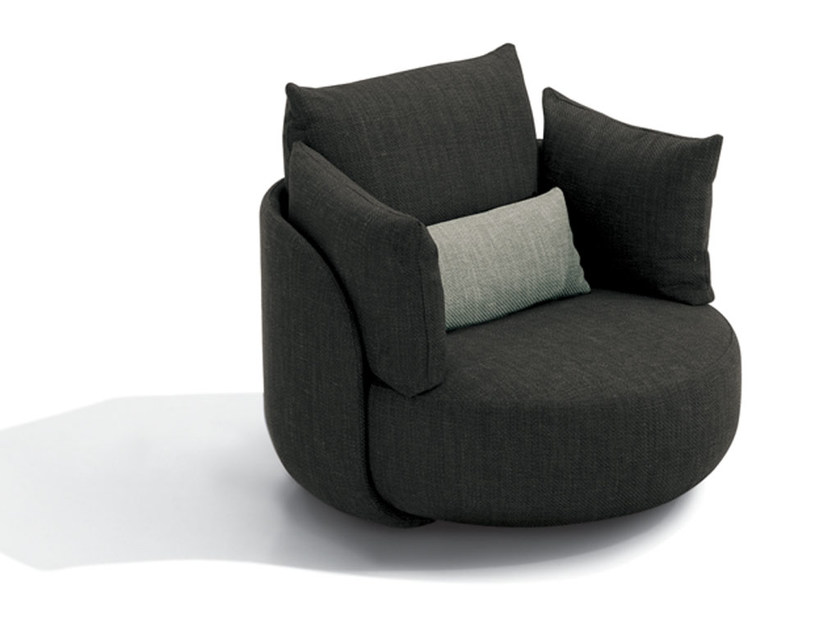 Fabric armchair with armrests TIAMAT | Armchair - MissoniHome