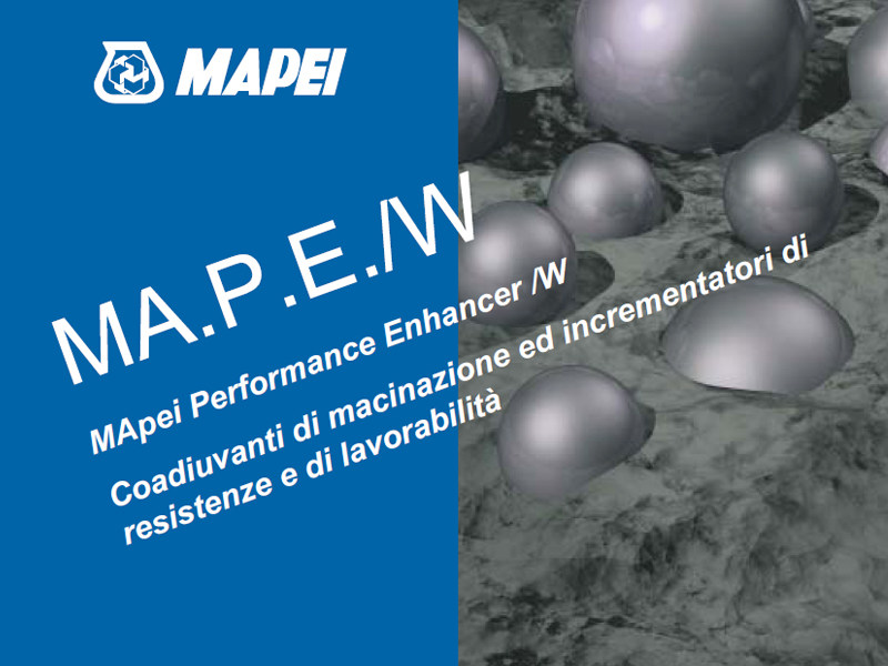 Additive for cement and concrete MA.P.E./W by MAPEI