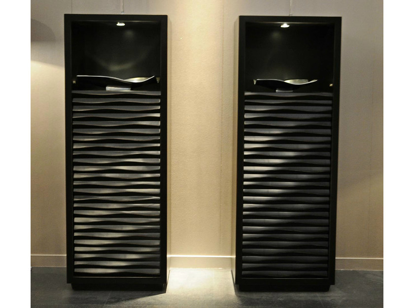 Lacquered highboard with doors EBON | Highboard by CorteZari