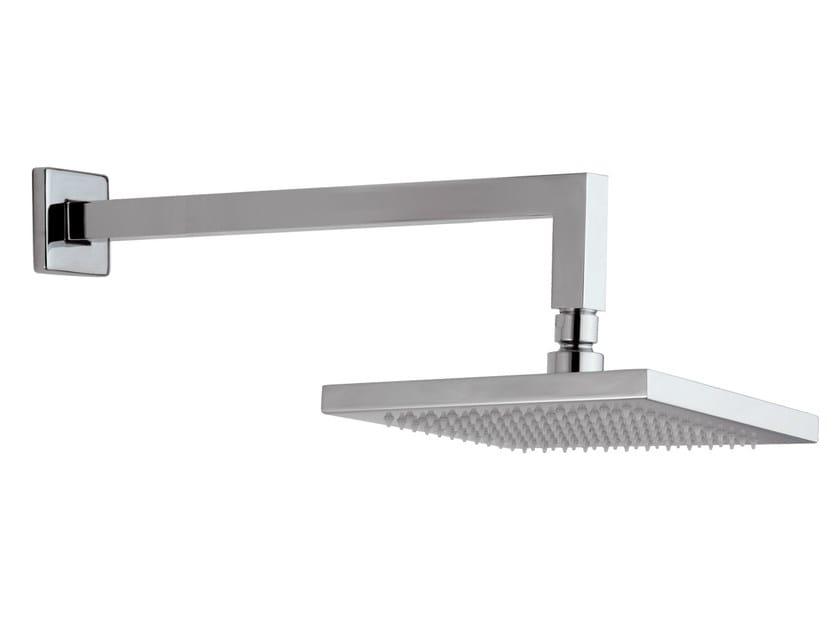 Wall-mounted chrome-plated brass overhead shower with arm 15B-MA   Overhead shower - Rubinetterie Mariani