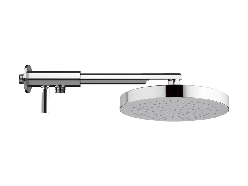 Wall-mounted brass overhead shower with diverter 15C-NO | Overhead shower - Rubinetterie Mariani