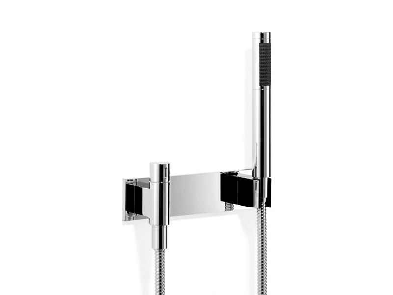 Wall-mounted chrome-plated handheld shower with hose