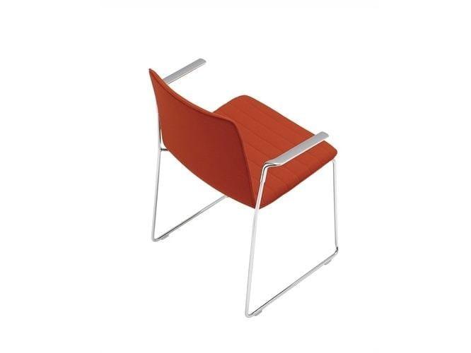 Sled base chair with armrests FLEX HIGH BACK | Sled base chair - Andreu World