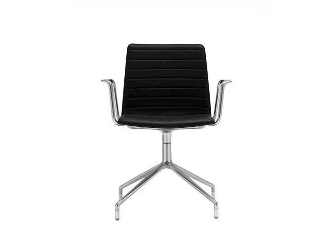 Chair with 4-spoke base with armrests FLEX HIGH BACK | Chair with armrests - Andreu World