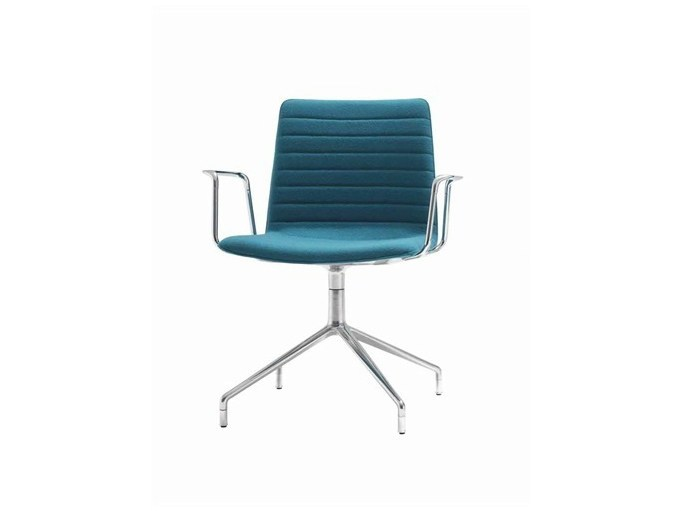 Upholstered chair with 4-spoke base with armrests FLEX CORPORATE | Upholstered chair by Andreu World