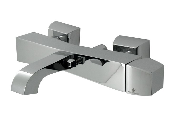 Wall-mounted bathtub mixer with aerator DUNE | Bathtub mixer - NOKEN DESIGN