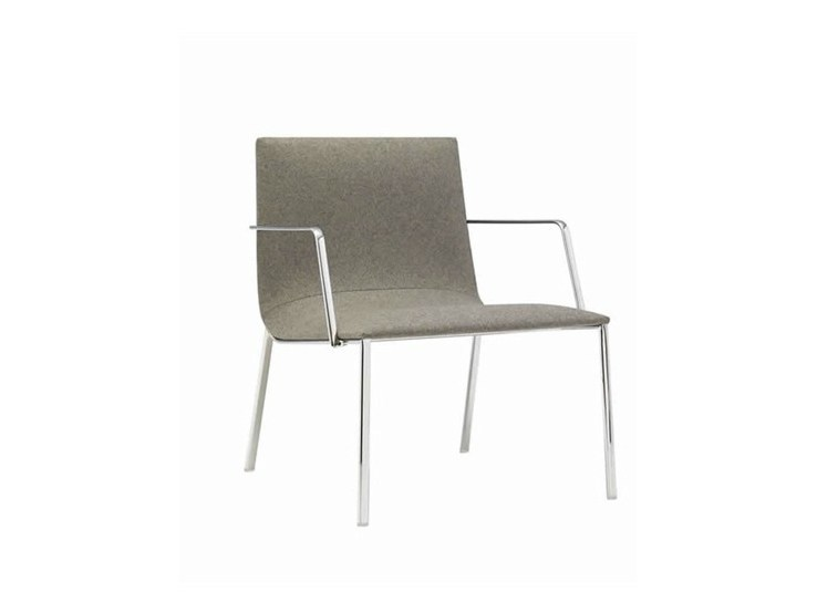 Upholstered easy chair with armrests LINEAL CORPORATE | Upholstered easy chair - Andreu World