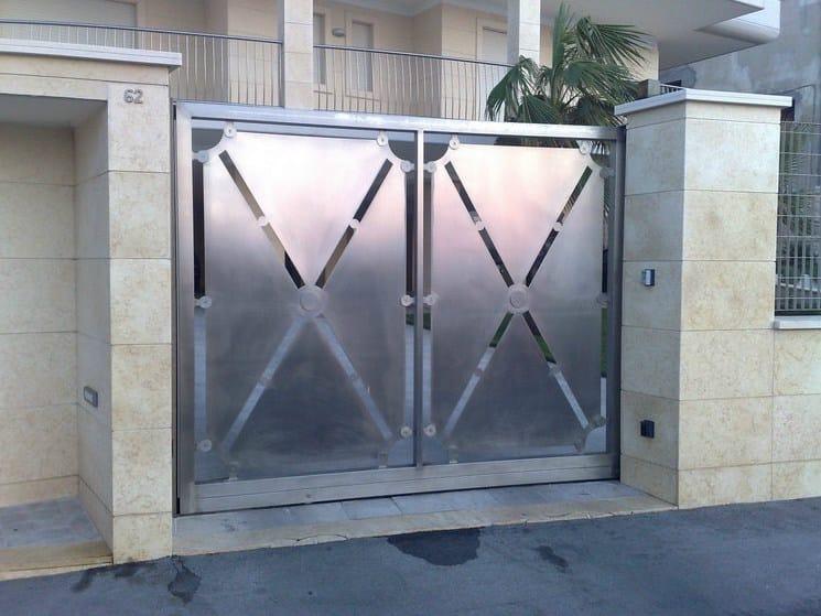 Swing steel gate I2 | Swing gate - CITYSì recinzioni e cancelli taglio laser