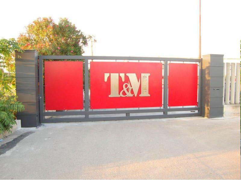 Motorized iron gate Motorized gate - CITYSì recinzioni e cancelli taglio laser